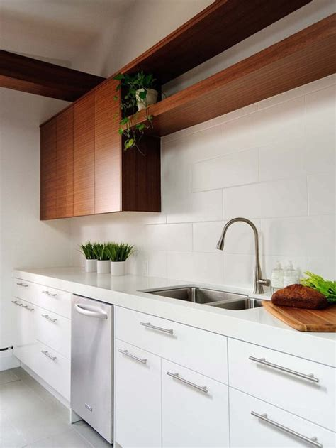 white flat panel cabinets houzz