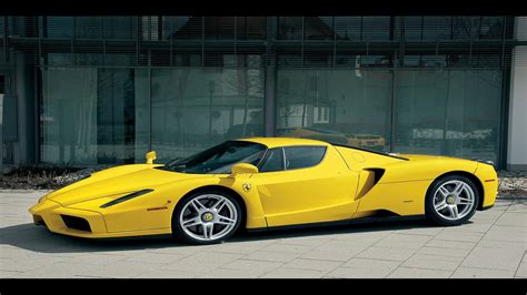 Yellow Ferrari Sports Car