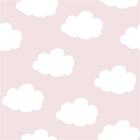 wolken behang rozewit bij behangwebshop slaapkamer