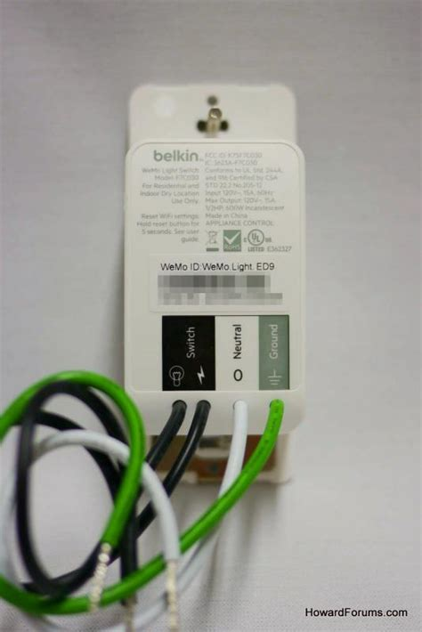 wemo light switch installation howardforums your mobile phone community resource our