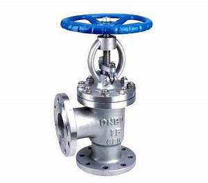 Hand Wheel Manual Flanged Din Globe Valve Angle Type For