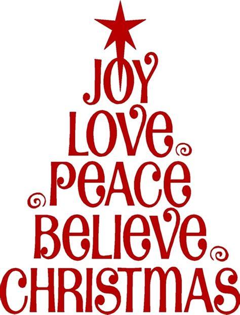 joy love peace believe christmas christmas trees