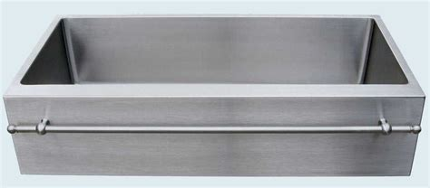 stainless steel apron sink with towel bar custom stainless sink with apron stainless towel bar by
