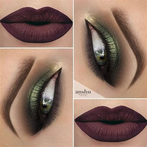 green smokey eye ideas tutorials    holiday makeup   festive fashionsycom
