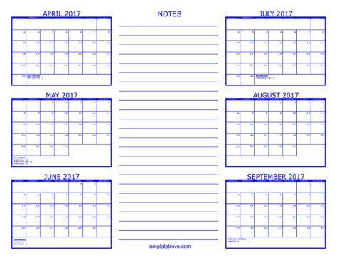 Three Month Calendar Template Trove by 6 Month Calendar 2017