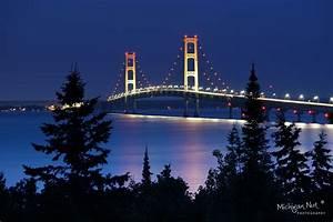 "Moonlight on ""Mighty Mac"" Mackinac Bridge ""   Taken from ..."