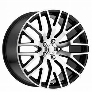 "20"" Staggered Ford Mustang Performance Wheels Black Machined OEM Replica Rims #OEM125-4"
