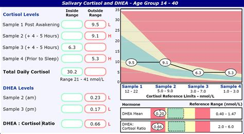 low dhea dhea cortisol ratio in a 28 year rising me cfs forums