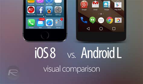 android l ios 8 beta vs android l スクリーンショット 並べて視覚的に比較 goes