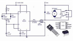 Dc Motor Controller Circuit With Ne555