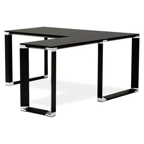 bureau d angle noir bureau d angle design master en verre tremp 233 noir
