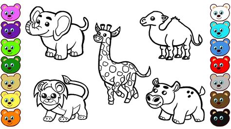 african animals coloring pages  children youtube