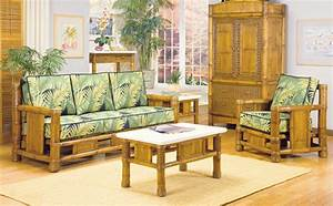 bamboo interior design With bamboo furniture in living room