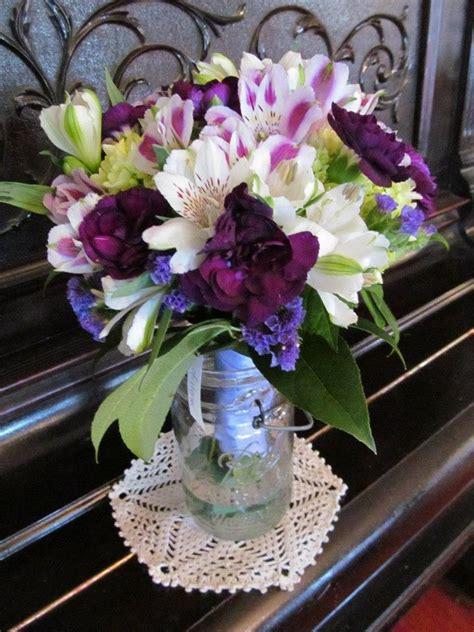 Wedding Bouquet Of Green Hydrangea White Roses Dark