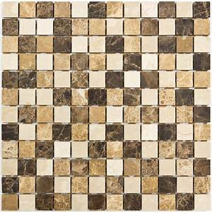 Mosaique marbre mixcolor marron indoor by capri for Mosaique carreaux