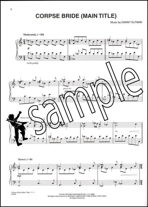 tim burton s corpse bride piano vocal chords sheet music