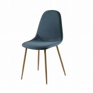 Chaise En Tissu : chaise en tissu bleu jean clyde maisons du monde ~ Teatrodelosmanantiales.com Idées de Décoration