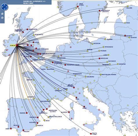 ryanair germany destinations map