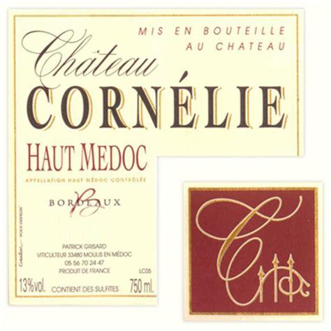 grille r un ation chambre d agriculture château cornélie 2009 les vins château cornélie