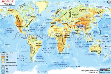 Carte Des Mers Dans Le Monde by Info Chaine Himalaya Atlas Voyages Cartes