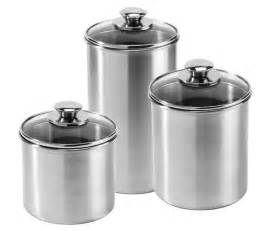 stainless steel kitchen canister sets amco stainless steel canister set 3 cutlery and more