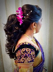 Indian Bride39s Bridal Reception Hairstyle By Swank Studio