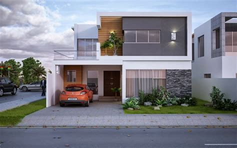 layout of house new modern 5 marla house design 3d front design