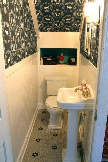 house endicott bathroom  stairs understairs