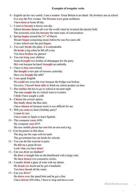 60 Irregular Verbs Examples Worksheet  Free Esl Printable. Blank Wedding Invitation Templates. Impressive Cover Letter Samples Template. Job Duties For Sales Associate Template. Free Templates. Quarterly Budget Template Excel Template. Weekly Menu Template Pdf Template. Yearly Budget Template Excel Free Template. Newsletter Templates In Word
