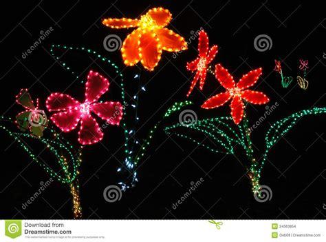 christmas lights shaped like flowers stock photo image