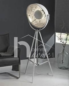 Lampadaire Trepied Blanc : lampadaire design blanc spoty sur tr pied ~ Teatrodelosmanantiales.com Idées de Décoration