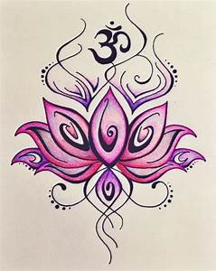 Om Symbol Lotus Flower Tattoo | www.imgkid.com - The Image ...