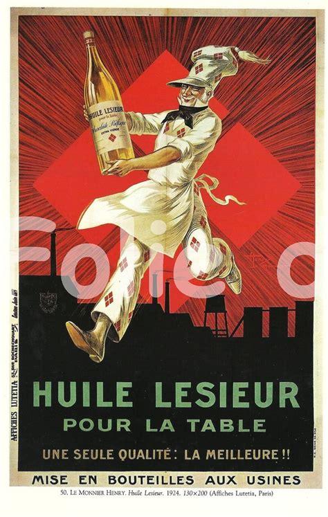 affiche vintage cuisine vintage food lesieur advertisement poster henry