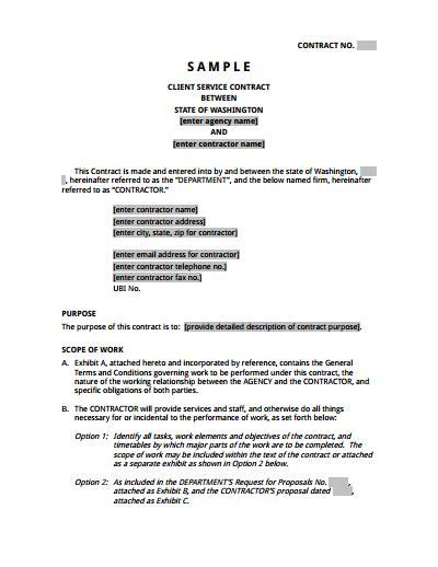 service agreement template   create edit