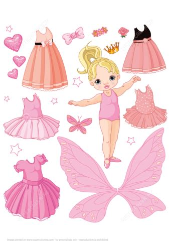 baby paper doll   ballet fairy  princess