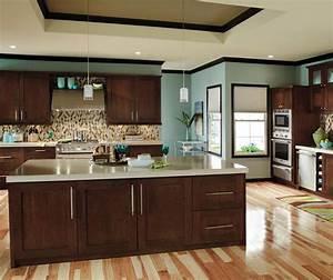 Contemporary Cherry Kitchen Cabinets - Decora Cabinetry