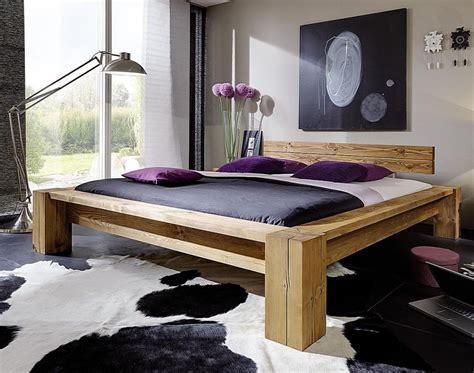 Massivholz Balkenbett Überlänge 160x210 Bett Aus Balken