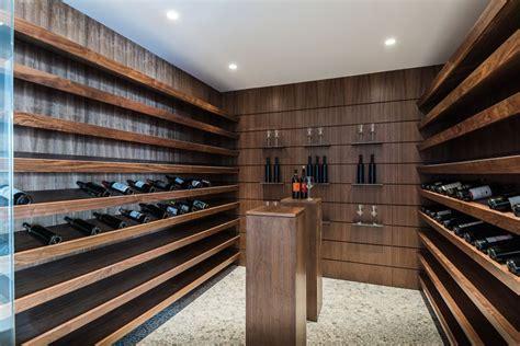 wooden shelves for kitchen any connoisseur 39 s modern wine cellar designs