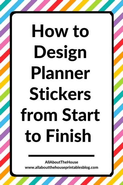How To Design Planner Stickers From Start To Finish (a. African Themed Decor. Decorated Envelopes. Living Room Design. Rooms To Go Credit Application