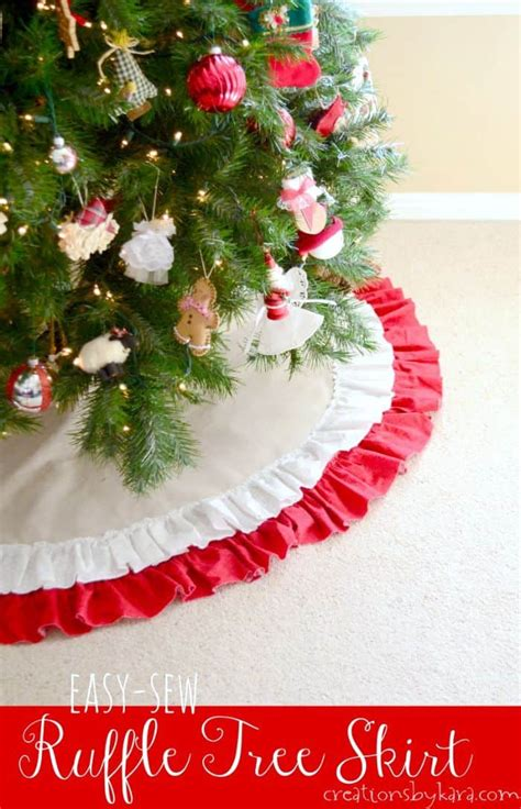 easy  sew ruffled christmas tree skirt