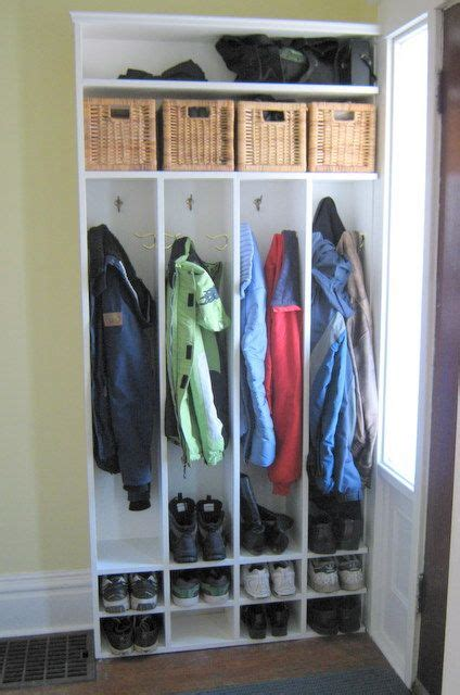 Front Entry Closet Organization Ideas by Mudroom Shelving Like The Shelves For Baskets
