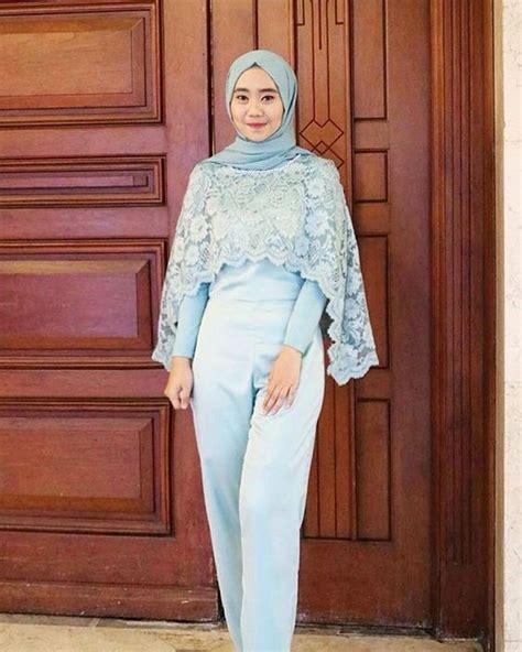 model setelan celana  kondangan tampil formal nggak  pakai gaun  kain batik