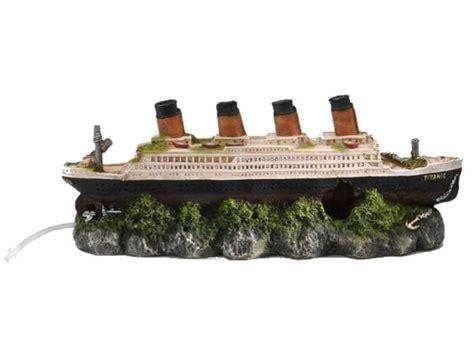 europet titanic 39 x 11 x 14 cm avec diffuseur de bulles int 233 gr 233 pour une d 233 coration naturelle