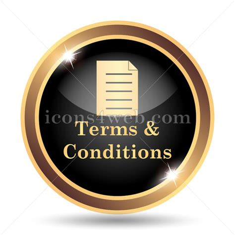 terms  conditions gold icon
