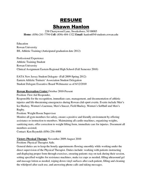 Resume Exles For College Students Athletes by Best Photos Of Athlete Resume Exle Student Athlete Resume Exles Professional Athlete