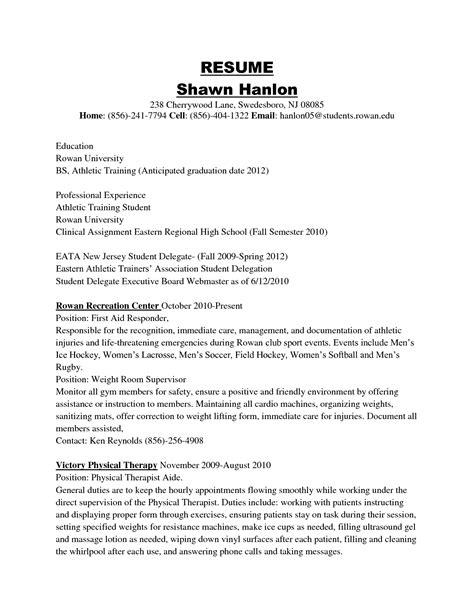 athletic resume resume badak