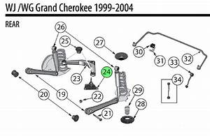 Jeep Wj Cherokee Upper Rear Arm Ball Joint 52088808ab