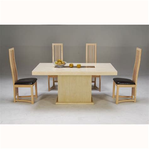 marble breakfast table sets celine cream and cocoa brown marble dining table with 4