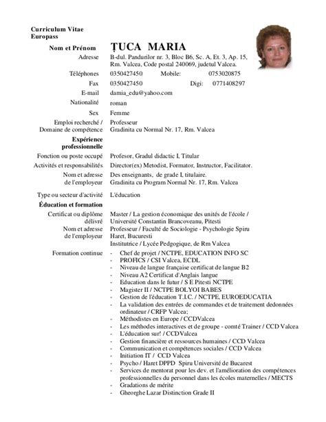 18288 resume exles for it cv europass tuca