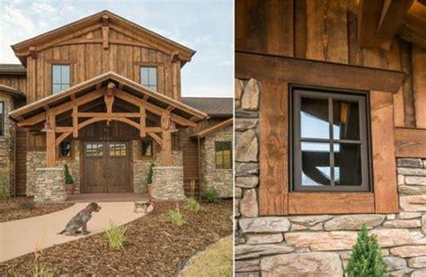 Reclaimed Barn Wood And Stone Exterior Beautiful Montana